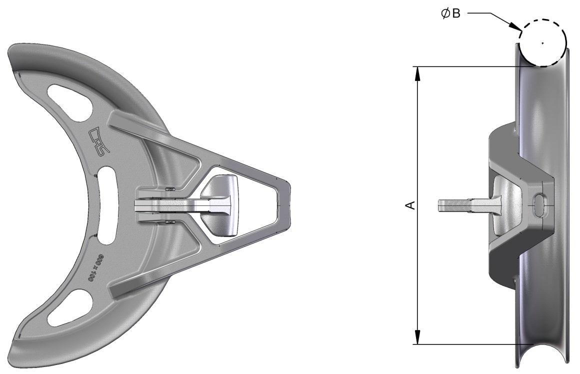 cable grab dimensions